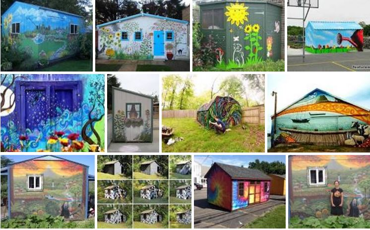 shed murals